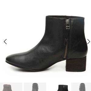 TRASK leather Vivian Booties size 6 black